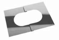 Afwerkingsplaat: regelbare afwerkingsplaat  Ø130mm